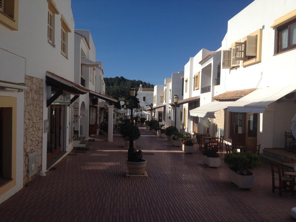 White washed Ibiza villages