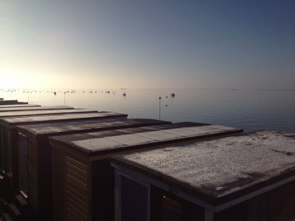 Frost on Beach huts