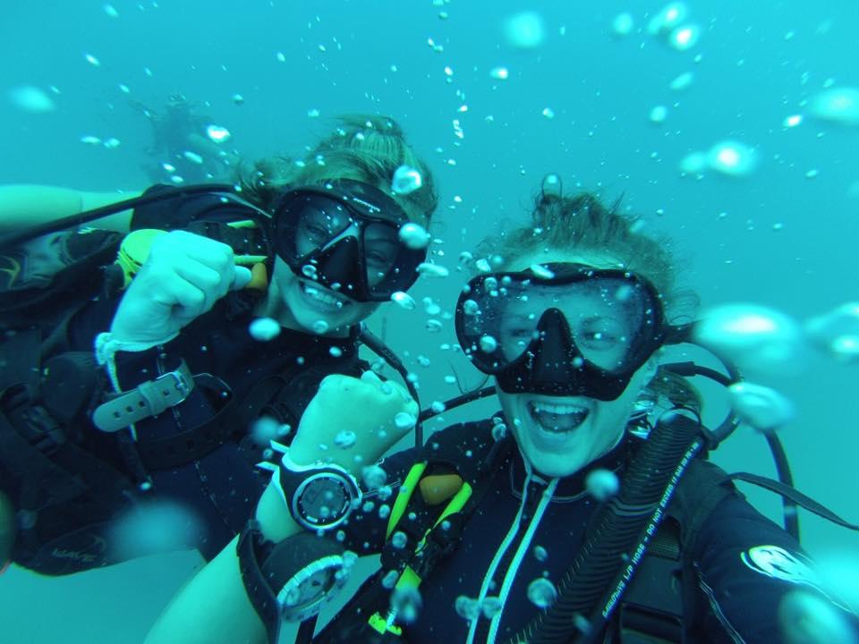 Chloe diving