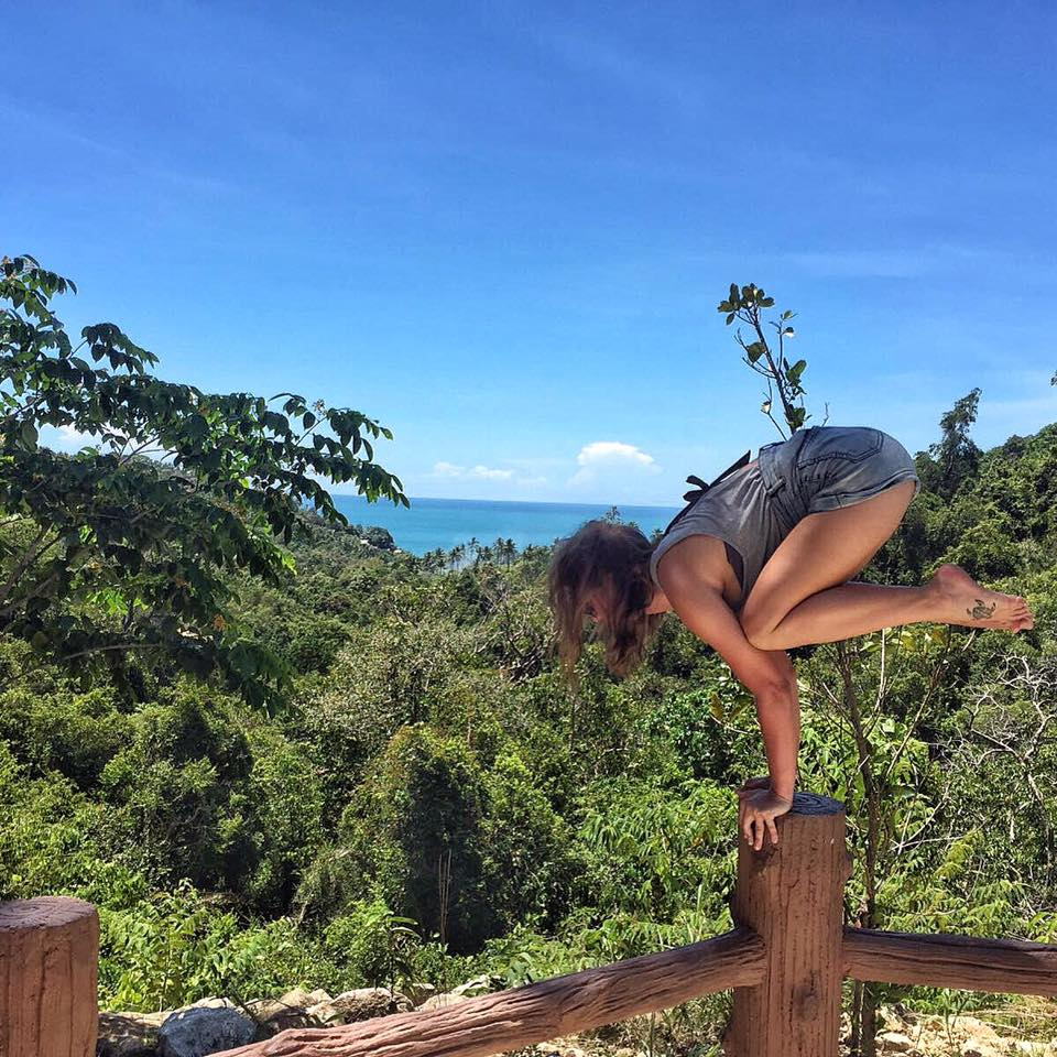 Chloe does Yoga